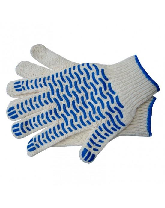 Перчатки трикотажные х/б с ПВХ Люкс-Волна