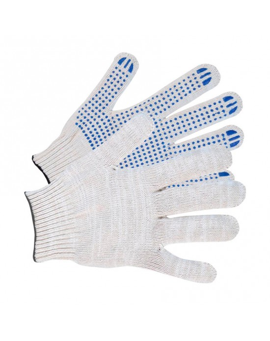 Перчатки Х/Б с ПВХ-покрытием точка