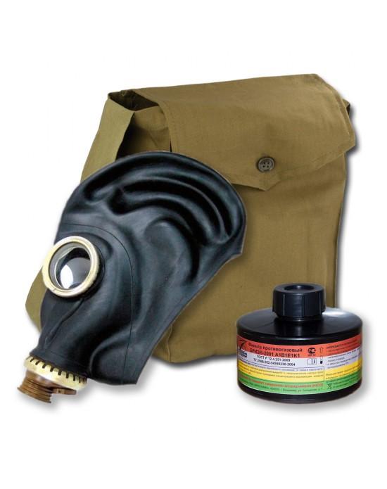 Противогаз Бриз промышленный ШМП с фильтром A1B1E1K1