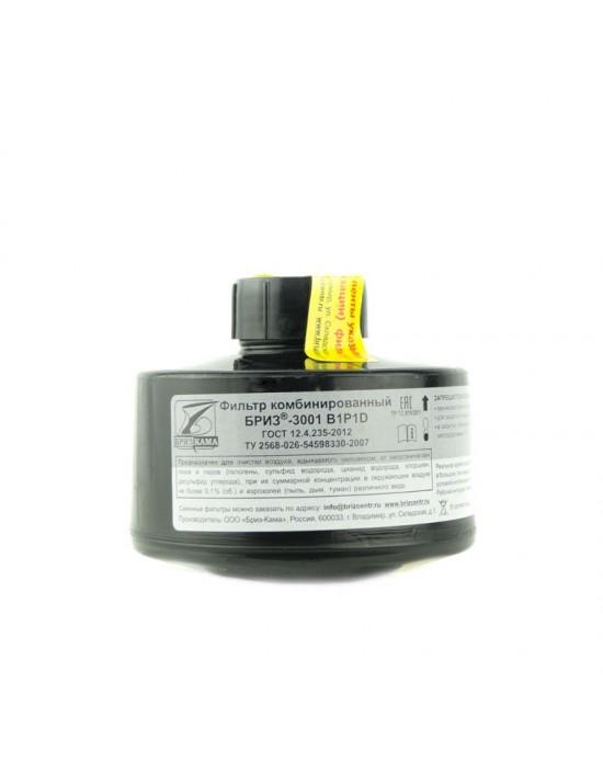 Фильтр противогазовый комбинированный БРИЗ-3001 В1P1D