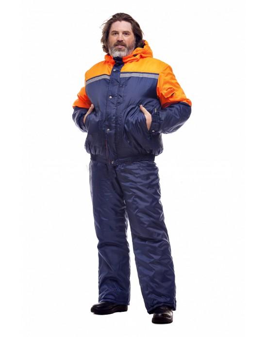 Костюм Стим т.синий/оранжевый