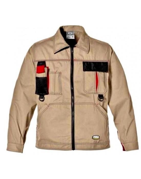 Куртка Харрисон хаки с черными деталями и красными вставками