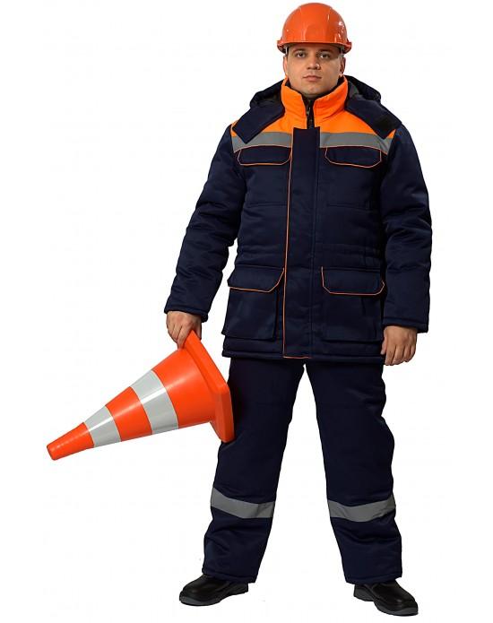 Костюм Балтимор синий/оранжевый