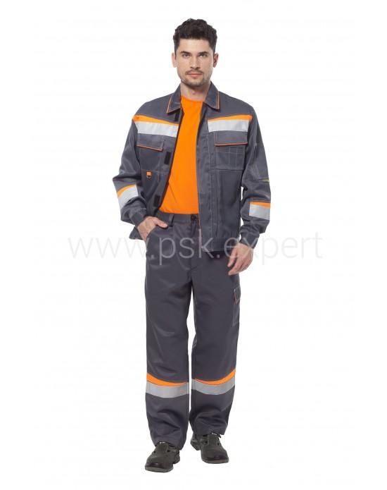 Костюм Комфорт 1 серый/оранжевый