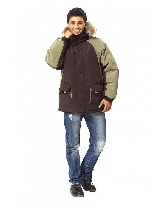 Куртка Брукс коричневый/олива