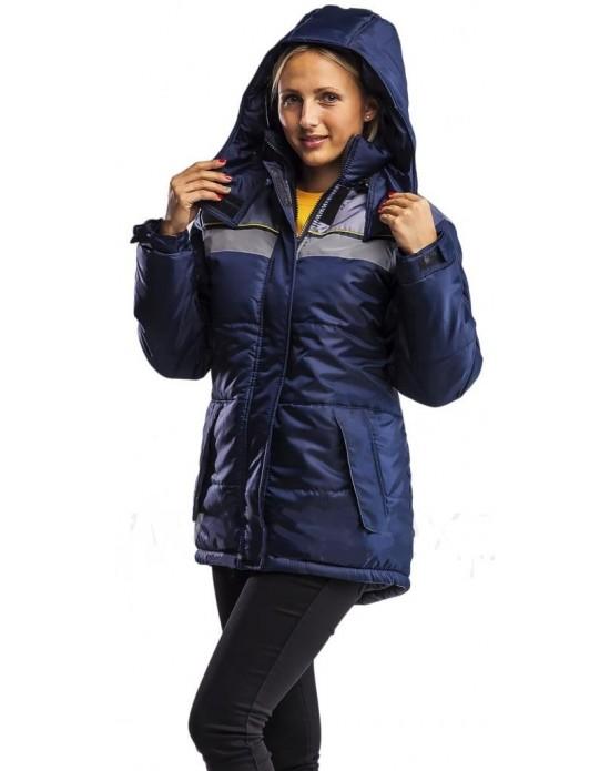 Куртка Эребус женская синий/серый