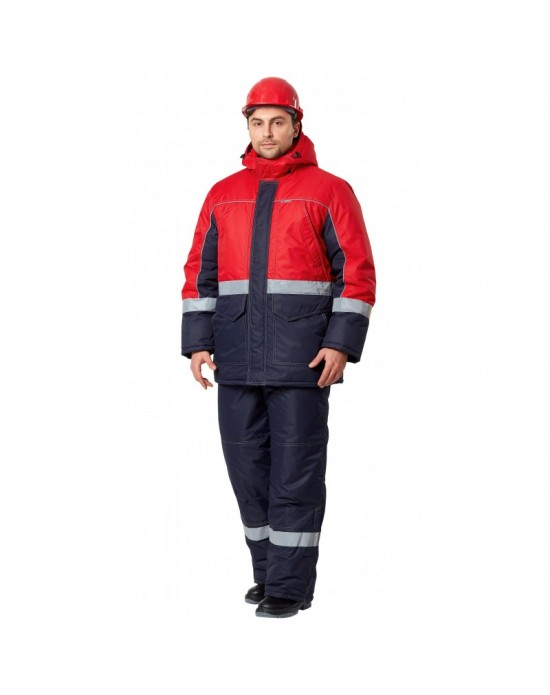 Куртка Сунтар синий/красный