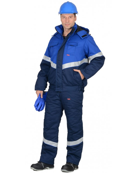 Костюм Навигатор зимний синий с васильковым